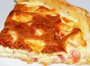 Quiche lardons/tomates/mozarella