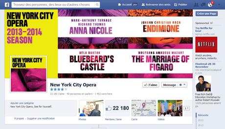 Copie d'écran de la page Facebook du NYCO