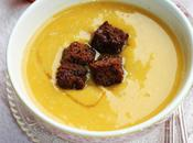 Velouté butternut, croûtons pain d'épices sirop d'érable