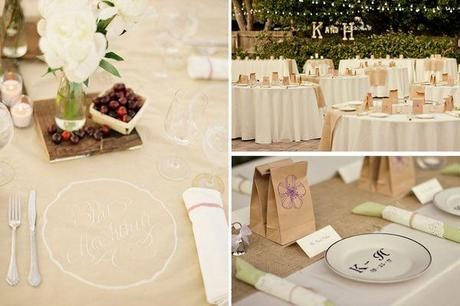 decoration mariage kraft