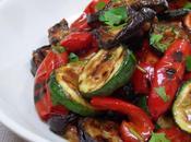 Salade méditerranéenne courgettes, aubergines poivrons grillés