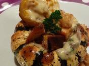 Patidou bechamel jambon champignons