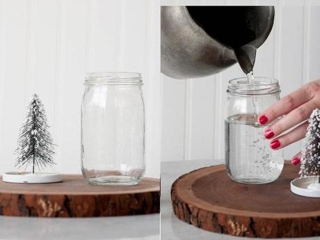 diy de noel je fabrique une boule neige voir. Black Bedroom Furniture Sets. Home Design Ideas