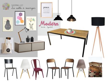 une salle manger et un salon au style industriel lire. Black Bedroom Furniture Sets. Home Design Ideas