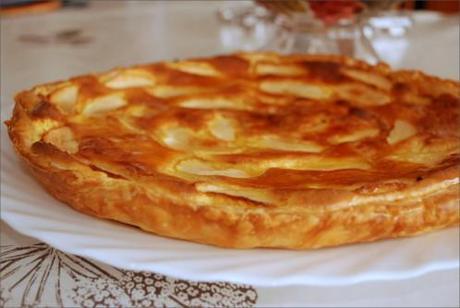 tarte feuillet 233 e aux pommes et cr 232 me d amande paperblog