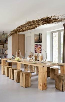 du bois dans la maison en mode design nature | À découvrir - Meuble Bois Brut Design