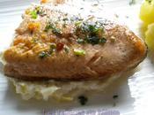 Omble chevalier fondue poireaux