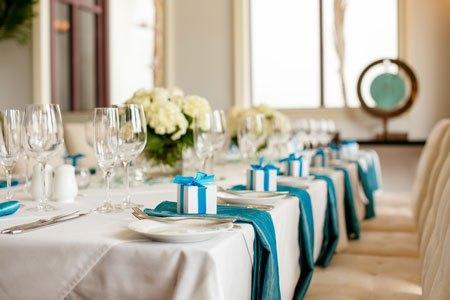 Mariage bleu turquoise d couvrir for Decoration de table bleu turquoise