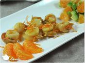 Noix Saint-Jacques poêlées mandarine