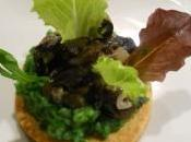 Tartelette sablée escargots, purée persil