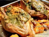 Poulet rôti compotée poires coriandre butternut