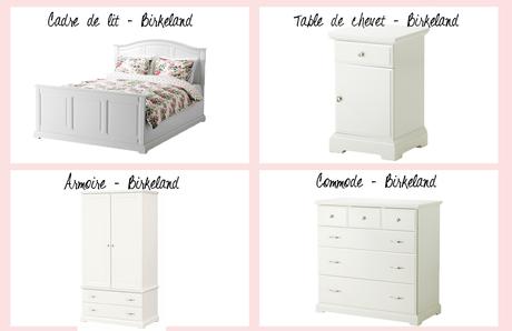 une jolie chambre avec ikea d couvrir. Black Bedroom Furniture Sets. Home Design Ideas