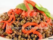 Salade Lentilles Poivrons Rouges.