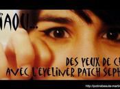 yeux chat avec l'Eyeliner patch Sephora Flop inside