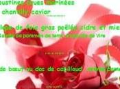 Menu Saint-Valentin