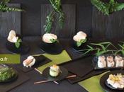 Vaisselle jetable pour sushis