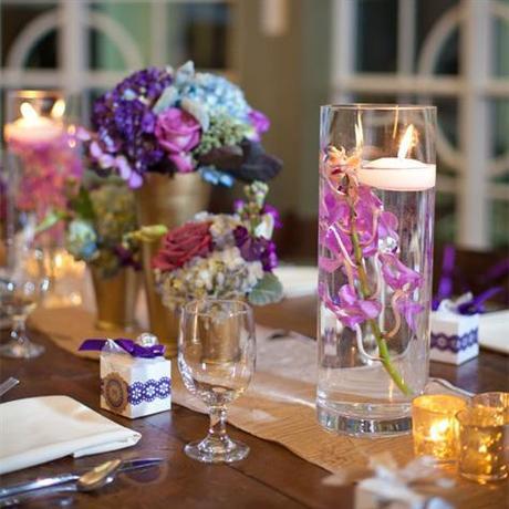 vase tube haut centre de table paperblog. Black Bedroom Furniture Sets. Home Design Ideas