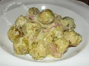 Choux Bruxelles crème lardons
