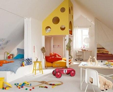 Déco de chambre d'enfant sous les combles  À Découvrir