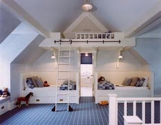D co de chambre d enfant sous les combles d couvrir - Deco chambre sous comble ...