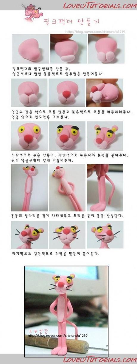 Tuto fimo : La panthere rose - Paperblog