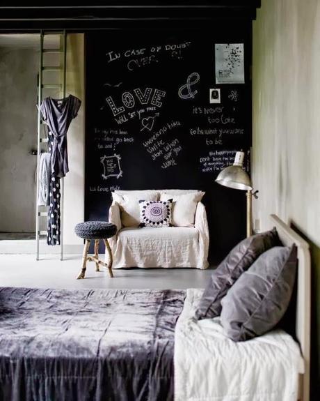 Cuisine Rouge Piment :  avec mur dexpression tableau noir Photo Lemon8blog  my Pinterest