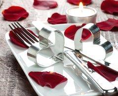 D co une jolie table pour la saint valentin paperblog for Deco de table saint valentin