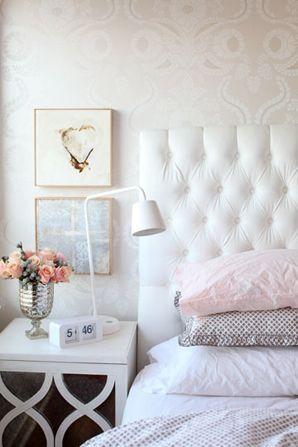 Chambre coucher f minine romantique paperblog for Papier peint romantique
