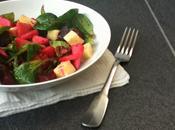 Salade d'hiver betterave, mâche pomme