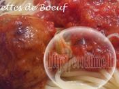 Boulettes Boeuf Moelleuses sauce Tomates Thermomix)