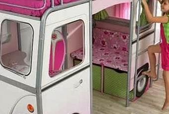 lit mezzanine bus pour enfant paperblog. Black Bedroom Furniture Sets. Home Design Ideas