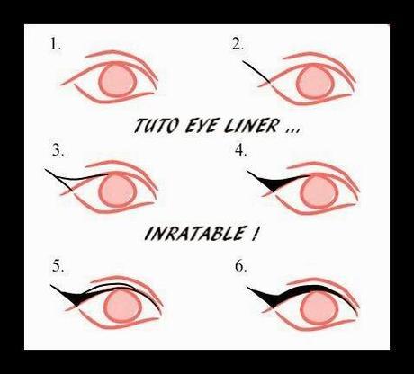 Comment se faire un trait d 39 eye liner parfait images - Comment faire un trait d eye liner ...