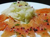 Carpaccio saumon fenouil