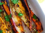Salade carottes tricolores rôties