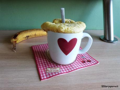 Mug cake banane et p pites de chocolat lire - Gateau dans un mug ...