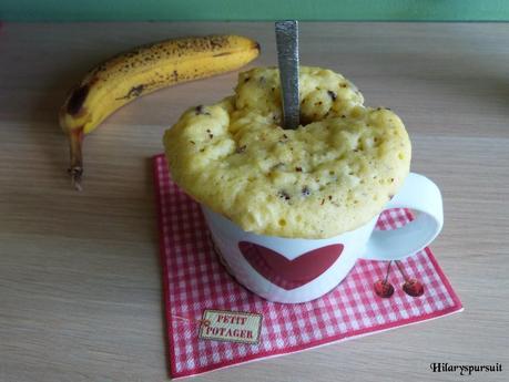 mug cake banane et p pites de chocolat lire. Black Bedroom Furniture Sets. Home Design Ideas
