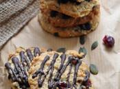 Cookies Santé: épeautre, canneberges graines courge