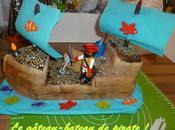 gâteau-bateau pirate