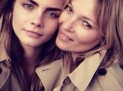 Kate Moss Cara Delevingne pour nouvelle campagne future fragrance Burberry...