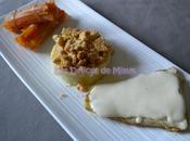 Filet sandre, émulsion parmesan purée crumble amandes-parmesan