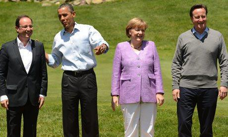 Hollande, Obama, Merkel et Cameron