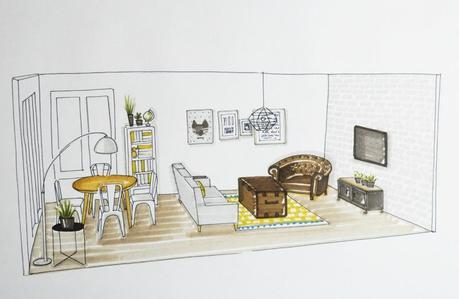 Transformer un appartement en loft paperblog for Croquis salon