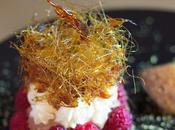 Sablé breton framboises tuiles pamplemousse