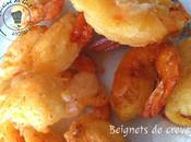 Beignets crevettes aubergines