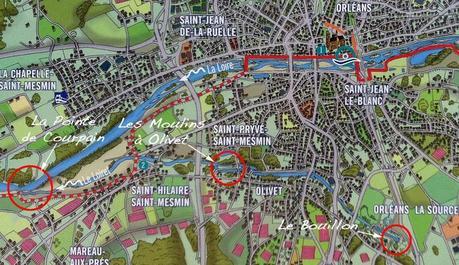 Plan Le Loiret du Bouillon à Courpain