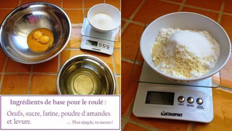 Roulé choco-pralin & caramel fleur de sel