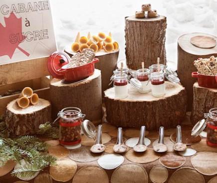 Cabane - table buffet