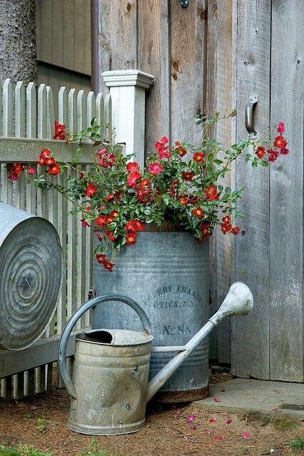 Cabane - pot de fleur