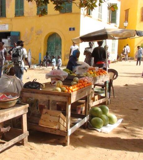 Sur la place principale, Gorée, Sénégal