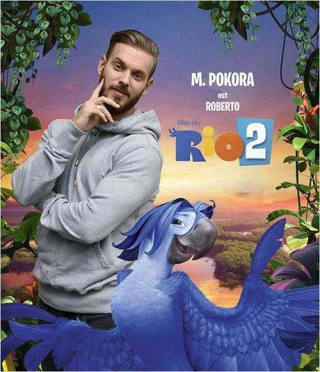M.Pokora donne de la voix pour le film d'animation, Rio 2.